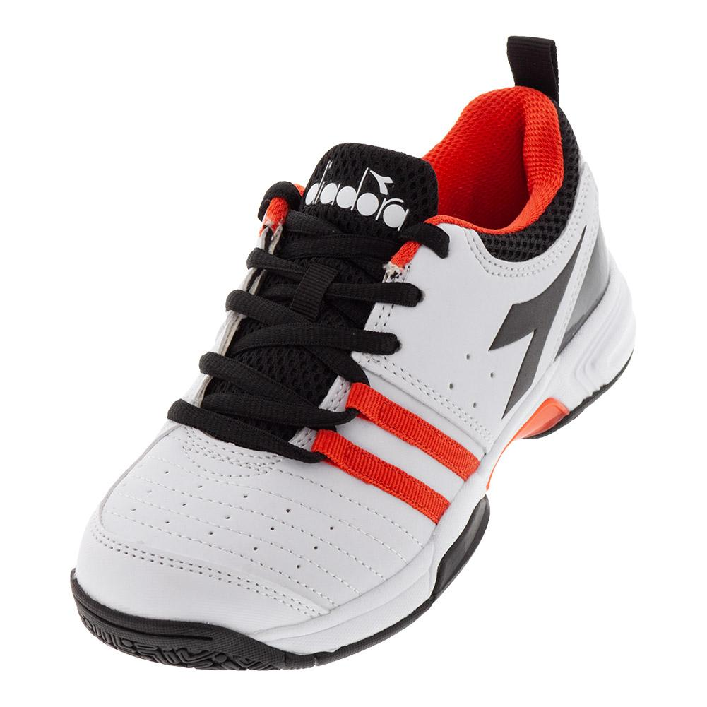 Details about DIADORA Juniors` S Fly 2 Tennis Shoes White and Black