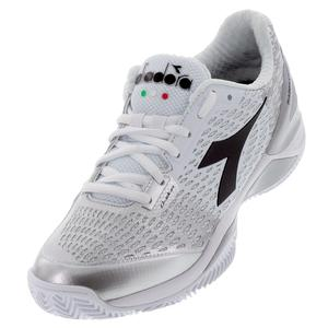 Women`s Speed Blushield 3 Clay Tennis Shoes White and Silver