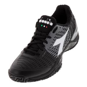 Men`s Speed Blushield 3 AG Tennis Shoes Black and Steel Gray