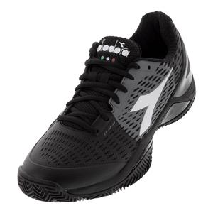 Men`s Speed Blushield 3 Clay Tennis Shoes Black and Steel Gray