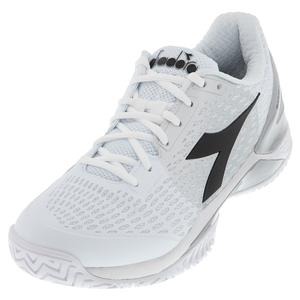 Men`s Speed Blushield 3 Clay Tennis Shoes White and Silver