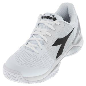 Men`s Speed Blushield 3 AG Tennis Shoes White and Silver
