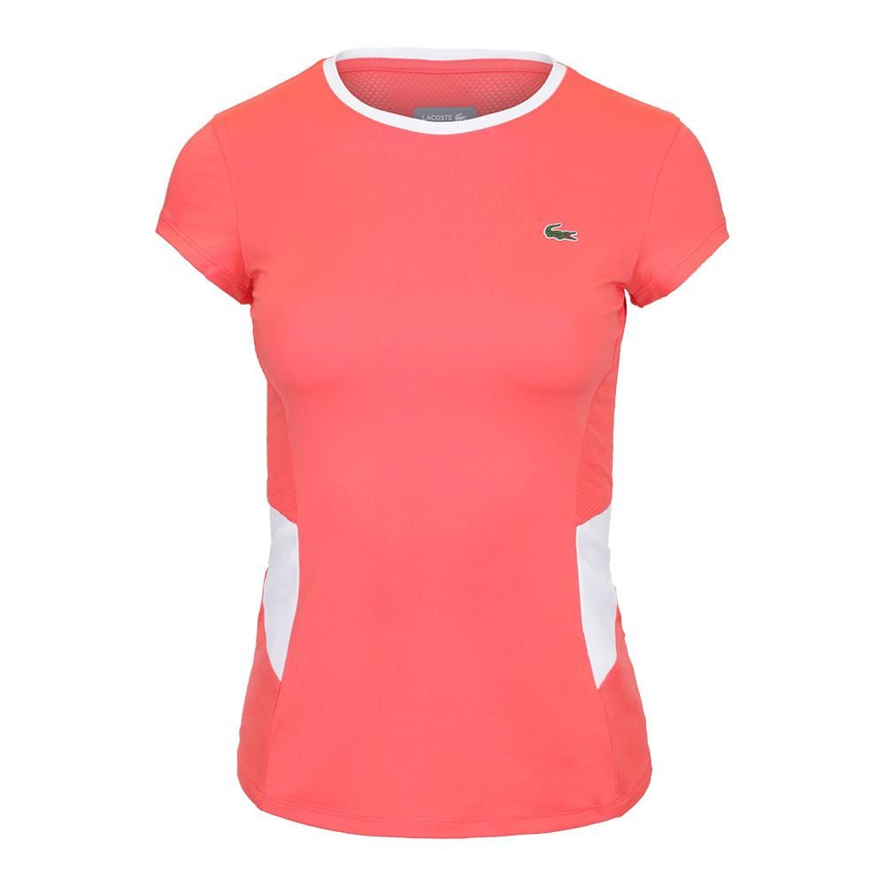 Women's Performance Tennis Top Manguier And Blanc