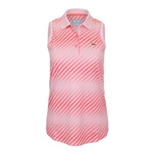 Women`s Ultra Dry Printed Sleeveless Tennis Polo