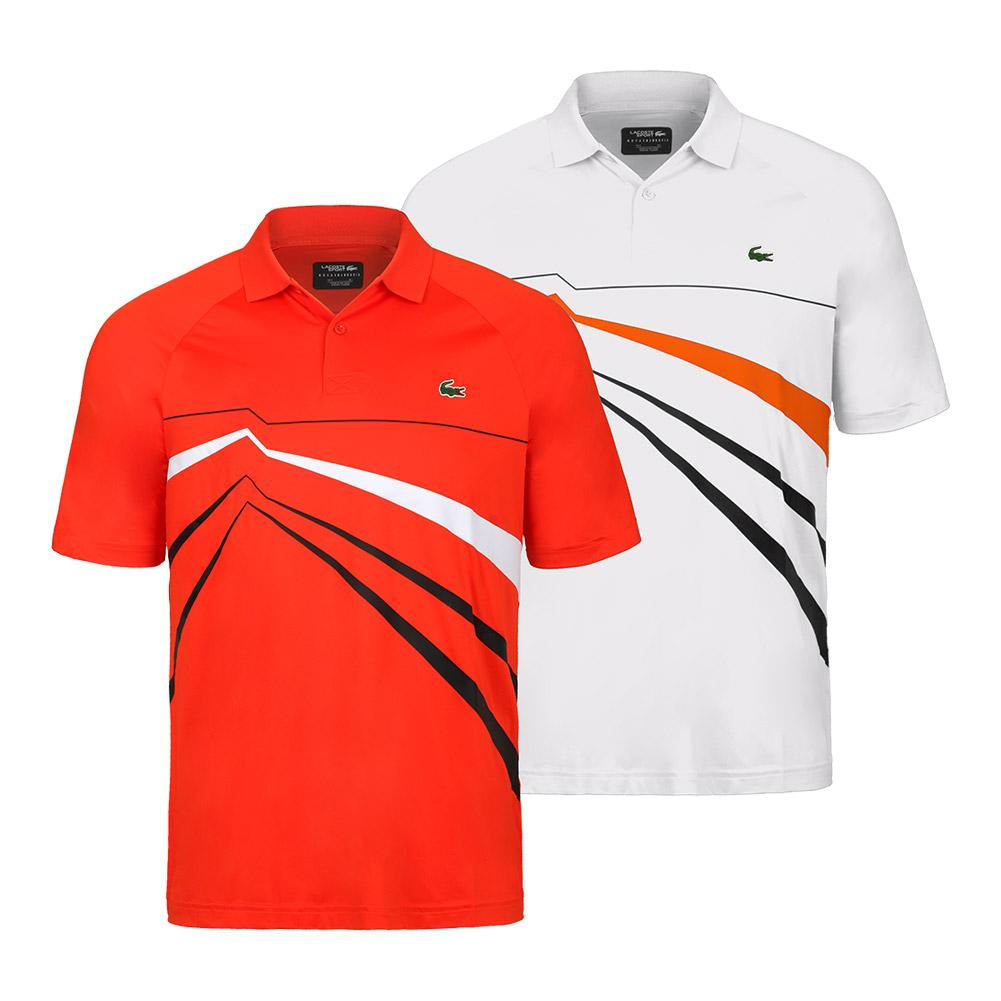 427dcf411aec0 Lacoste Men`s Novak Djokovic Ultra Dry Graphic Tennis Polo