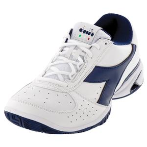 Men`s S Star K Elite AG Tennis Shoes White and Navy