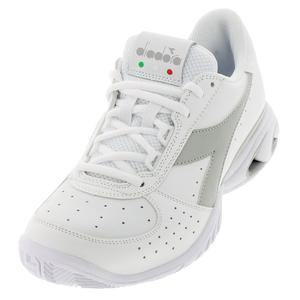 Women`s S Star K Elite AG Tennis Shoes White and Silver