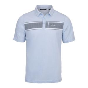 Men`s Nemats Tennis Polo Heather Placid Blue