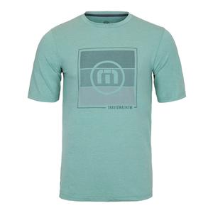 Men`s Skinny Dippers Tennis Tee Heather Beryl Green
