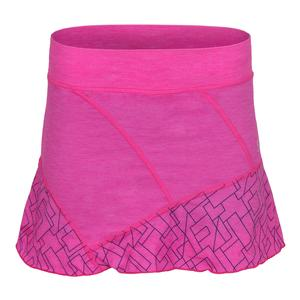 Women`s Follow 14 Inch Tennis Skort Fuchsia Melange and Geo Print