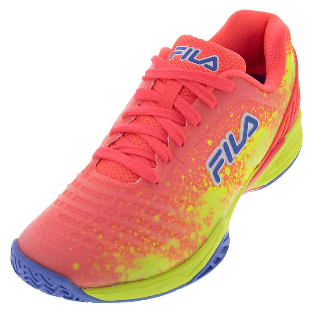 Women's Axilus 2 Energized Tennis Shoes Diva Pink, Safety Yellow, And Wedgewood