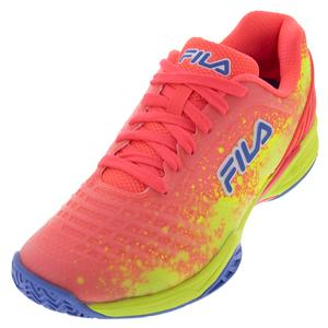 Women`s Axilus 2 Energized Tennis Shoes Diva Pink, Safety Yellow, and Wedgewood