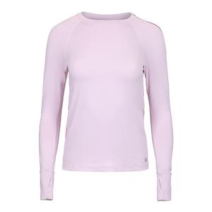Women`s Glow Long Sleeve Tennis Top Whimsy and Dewberry