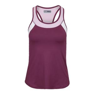 Women`s Pacesetter Tennis Tank Dewberry and Whimsy
