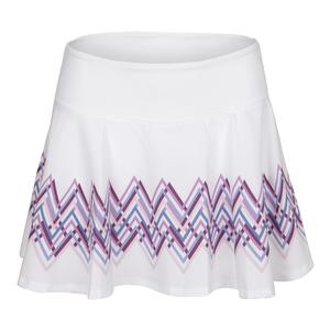Women`s Highline 13 Inch Tennis Skort White and Intermix Print