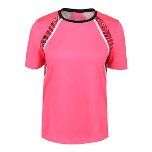 Women`s Imani Short Sleeve Tennis Crew Honeysuckle