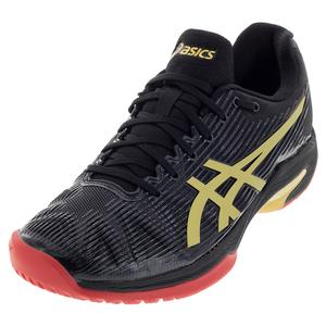 Men`s Solution Speed FF LE Tennis Shoes Black and Rich Gold