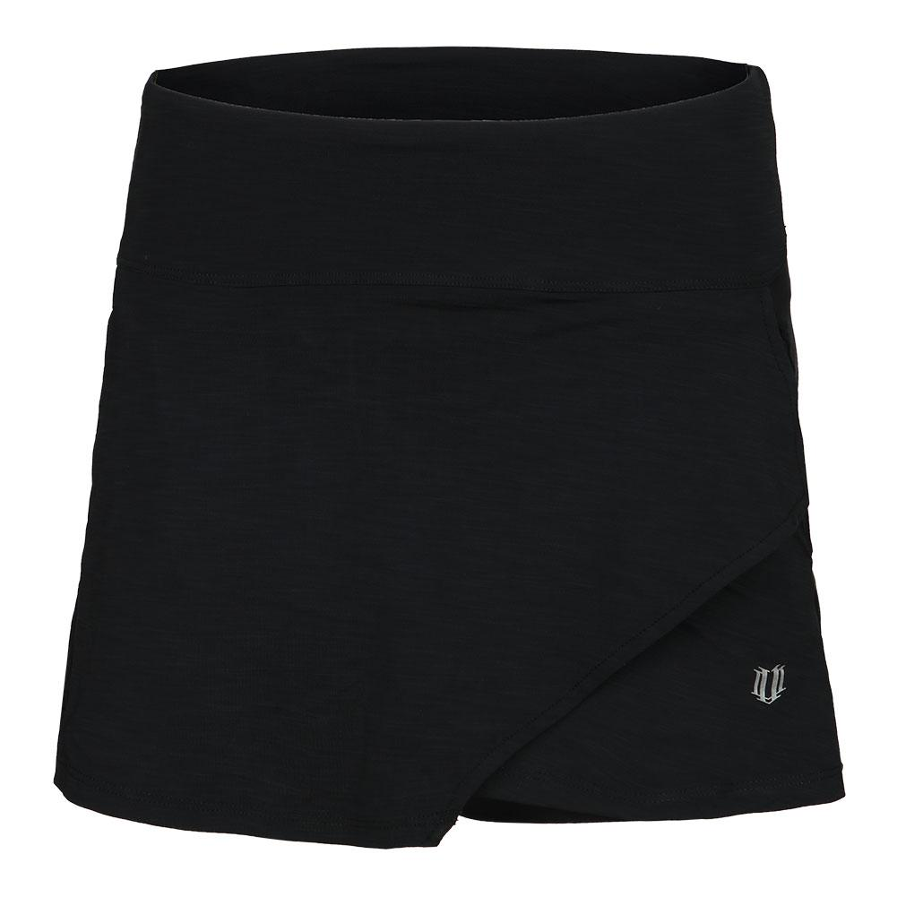 Women's Fly 14 Inch Tennis Skort Black