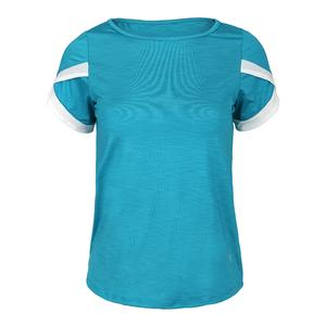 Women`s Ace Tennis Top Mosaic Blue