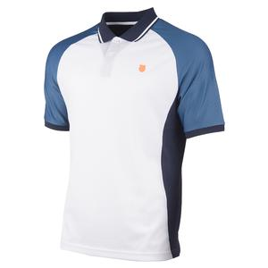 Men`s Hypercourt Express Tennis Polo White and Navy
