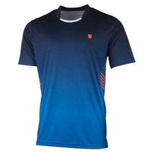 Men`s Hypercourt Express Tennis Crew Navy and Blue