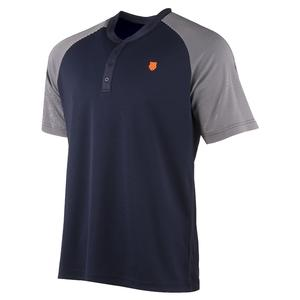 Men`s Hypercourt Henley Tennis Crew Navy