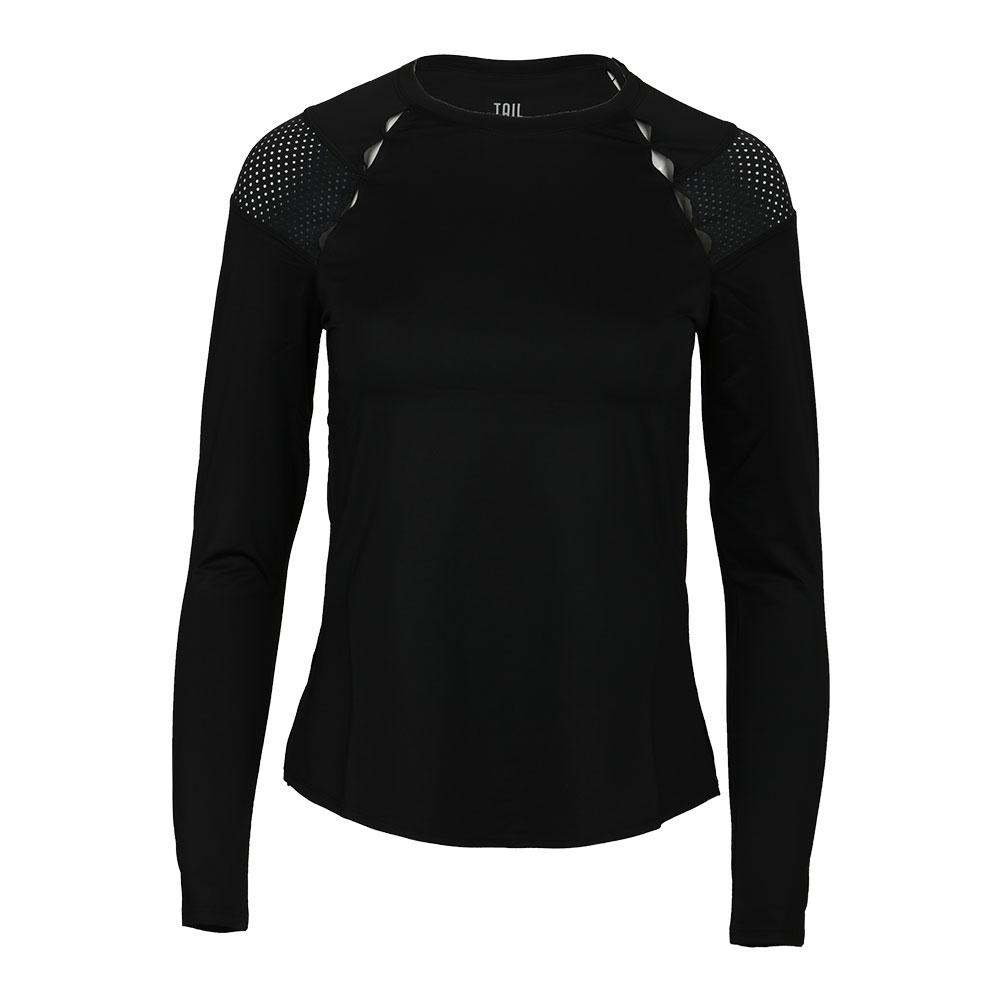 Women's Wynter Long Sleeve Tennis Top Black