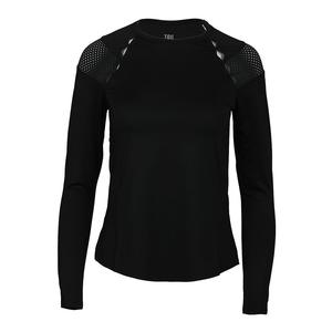 Women`s Wynter Long Sleeve Tennis Top Black