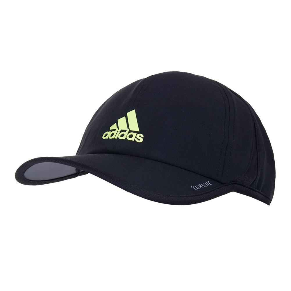ddced4848e6 Adidas Men`s SuperLite Tennis Cap Black and HI-Res Yellow