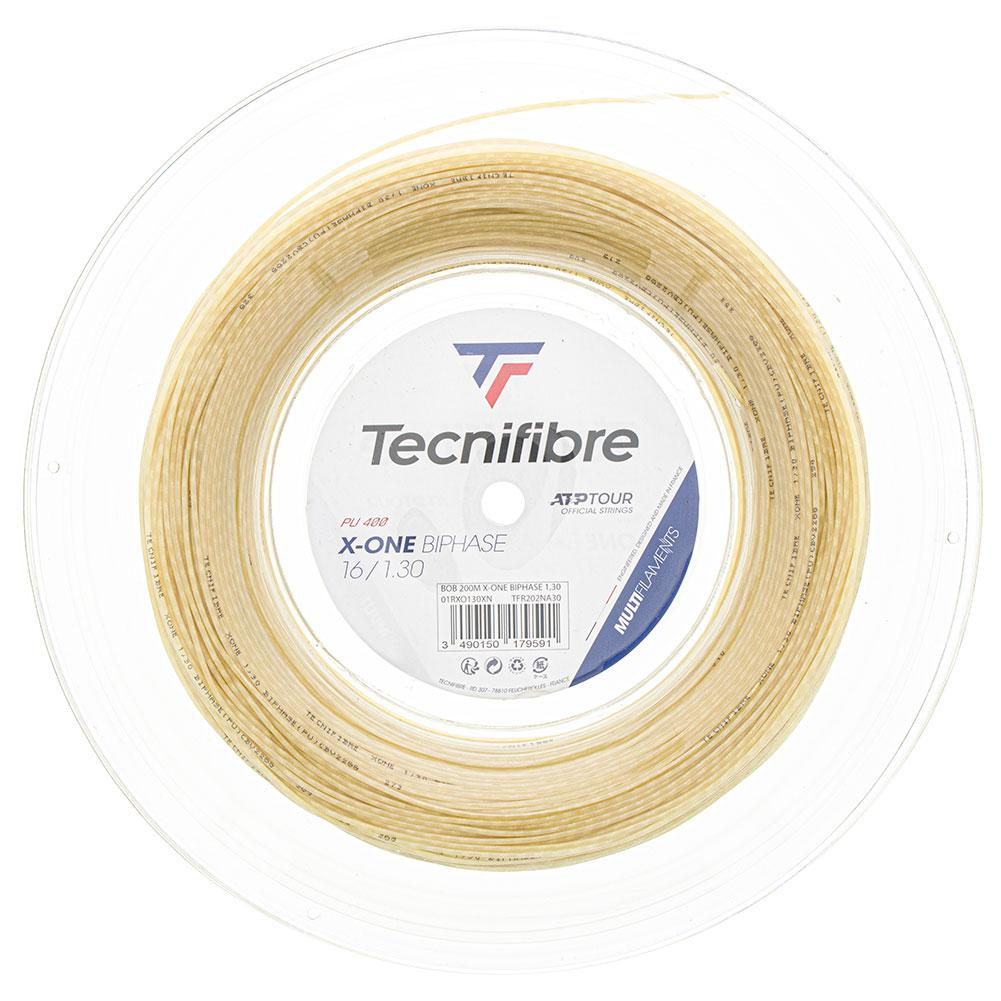 Natural Tecnifibre X-One BIPHASE 1.30 Tennis Rope Adult Unisex Single