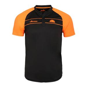 Men`s Nostrano Tennis Polo Black and Neon Orange
