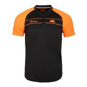 Men`s Nostrano Tennis Polo Black and Neon Orange