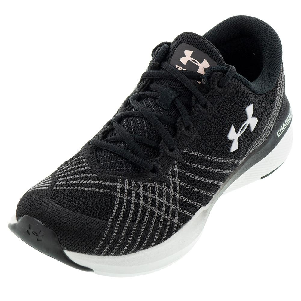 Women's Ua Threadborne Push Training Shoes Black And White