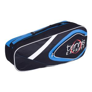 Tennis Express 6 Pack Tennis Bag Black and Blue