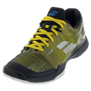 Men`s Jet Mach II Clay Tennis Shoes Dark Yellow and Black