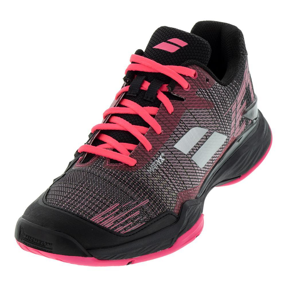 Women's Jet Mach Ii Clay Tennis Shoes Pink And Black
