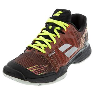 Men`s Jet Mach II All Court Tennis Shoes Dark Red and Black