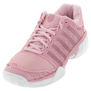 Juniors` Hypercourt Express Tennis Shoes Coral Blush and White