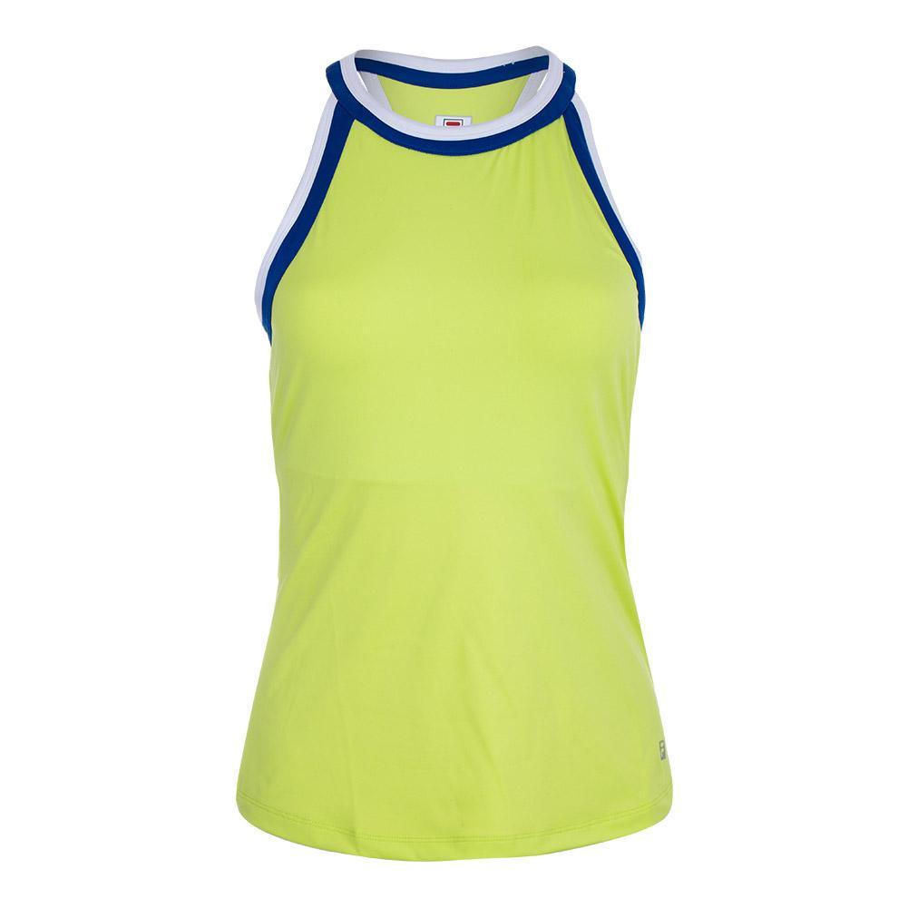 Women's Halter Tennis Tank Sharp Green