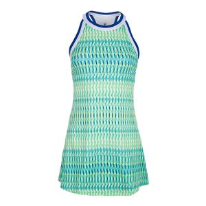 Women`s Halter Tennis Dress French Blue Abstract Print