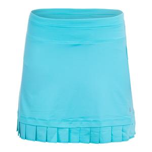 Women`s Pleated Hem 14.5 Inch Tennis Skort Blue Curacao
