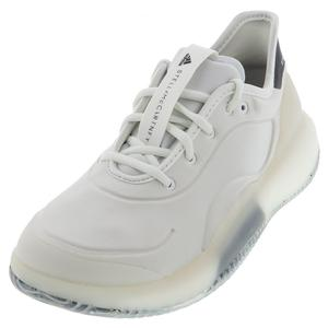 Women`s Stella McCartney Court Boost Tennis Shoes White and Legend Blue