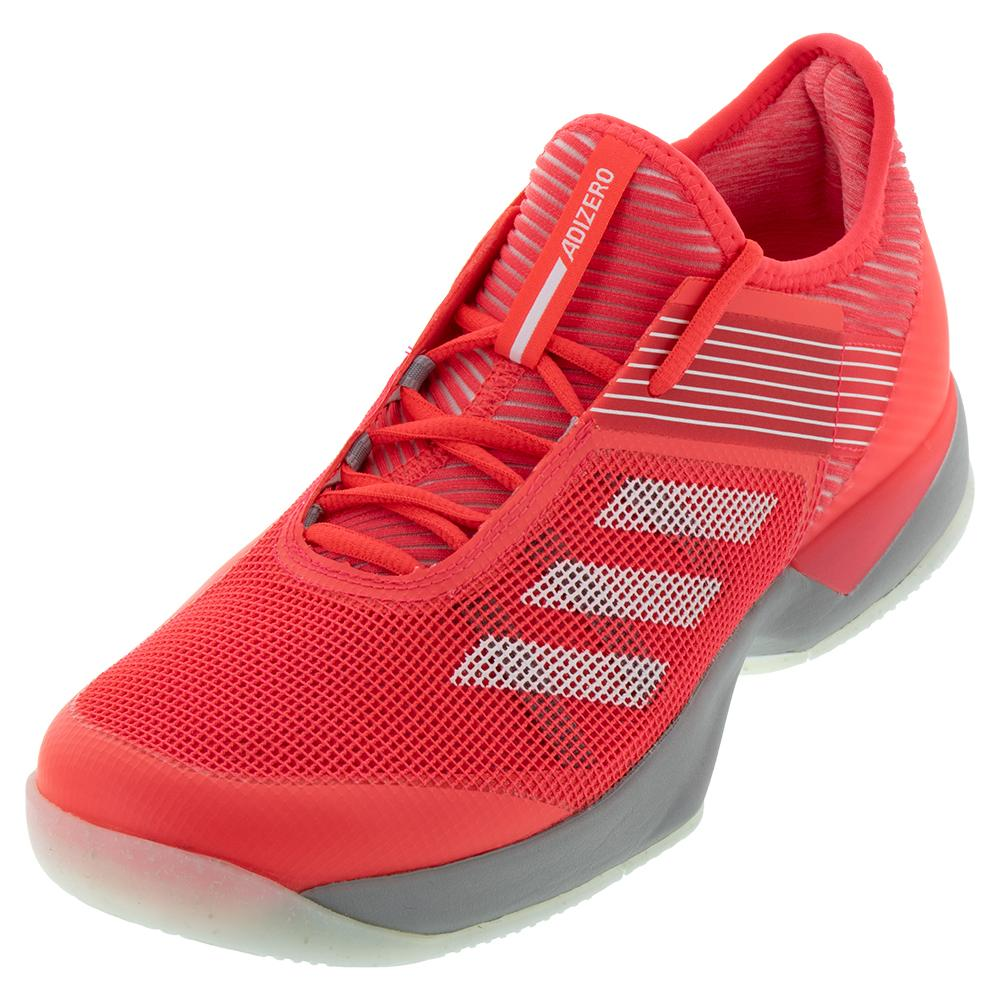 wholesale dealer ad323 a36ab ADIDAS ADIDAS Womens Adizero Ubersonic 3.0 Tennis Shoes Shock Red And  Light Granite
