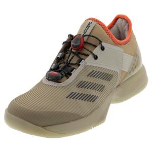 Women`s Adizero Ubersonic 3 Citified Tennis Shoes Light Brown and Gray Six
