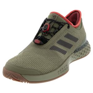 Men`s Adizero Ubersonic 3.0 Citified Tennis Shoes Raw Khaki and Night Metallic