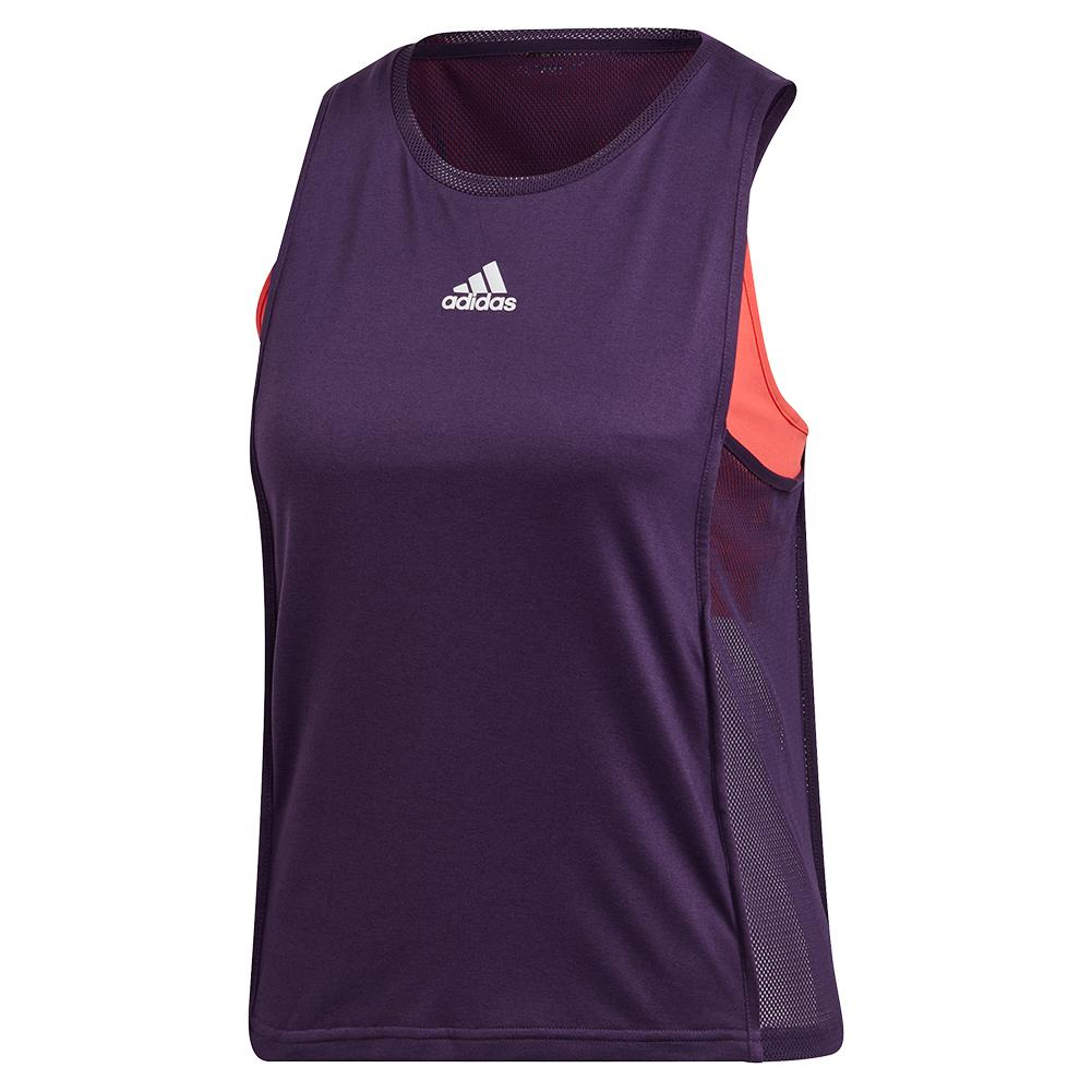 Women's Escouade Tennis Tank Legend Purple And Shock Red
