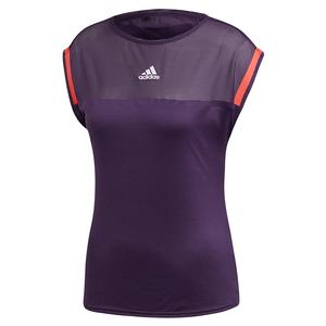 Women`s Escouade Tennis Top Legend Purple and Shock Red
