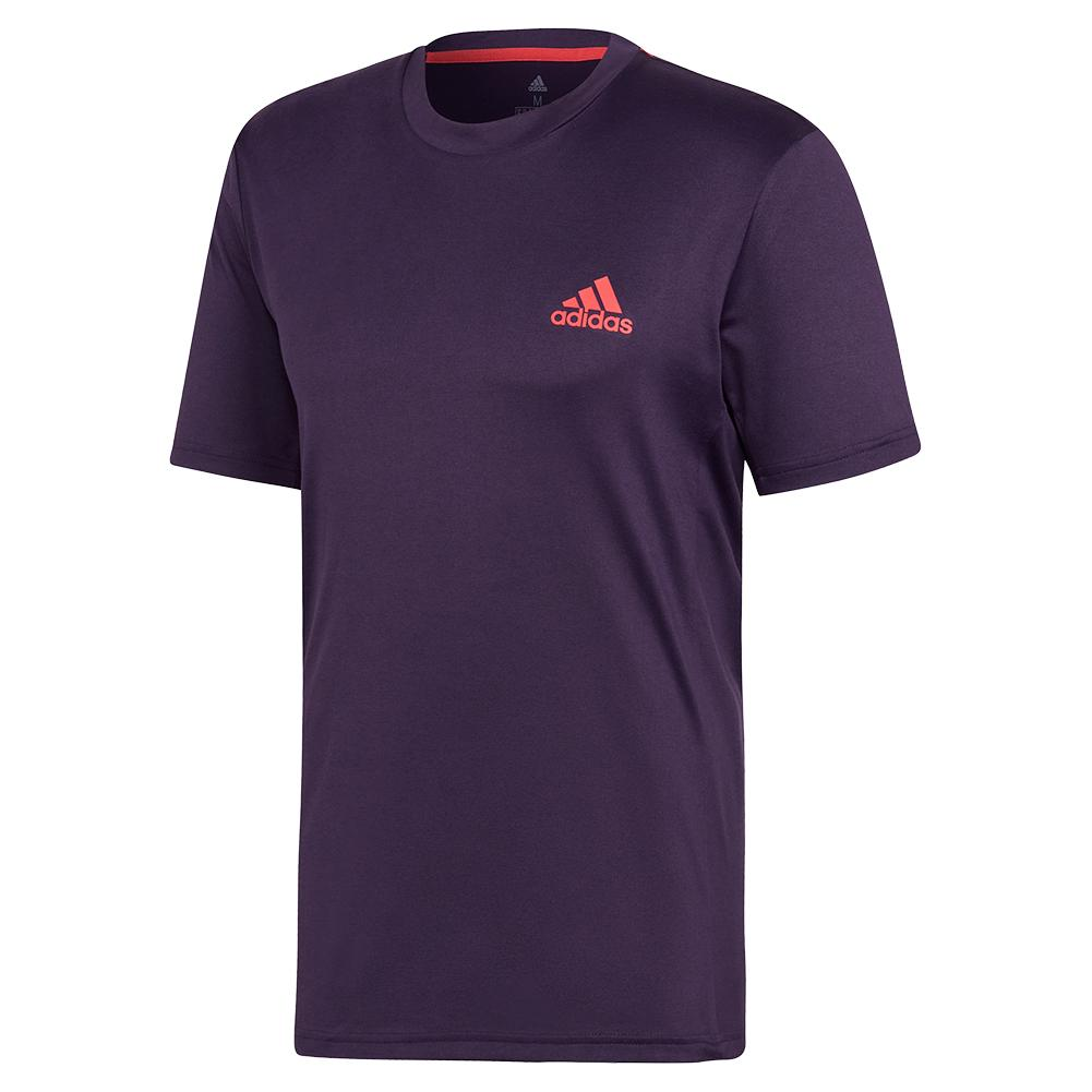 Men's Escouade Tennis Top Legend Purple And Shock Red