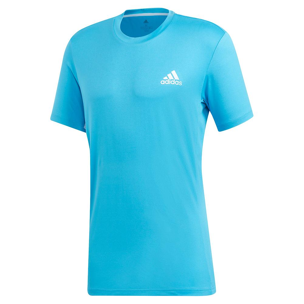 Men's Escouade Tennis Top Shock Cyan And White