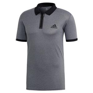 Men`s Escouade Tennis Polo Grey Heather and Black